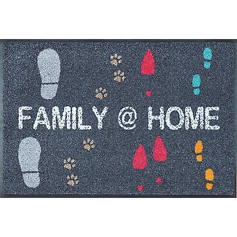 Rodzina @ zmywalne podłogi domu 50 x 75 cm mat wash + suche