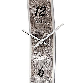 Quartz wall clock wall clock quartz silver design leatherette application