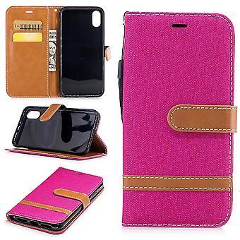 Tapauksessa Apple iPhone XS farkut kansi matkapuhelin suojus tapauksessa vaaleanpunainen