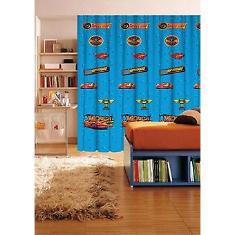 Disney Cars Blue Translucent Voile window curtain