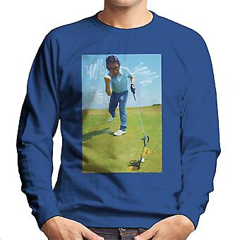 TV Times Ronnie Corbett Playing Golf 1971 Men's Sweatshirt