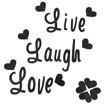 TRIXES Live Laugh Love Black Wall Decal Sticker Home Decoration – Vinyl Wall Decal Murals- Self-Adhesive