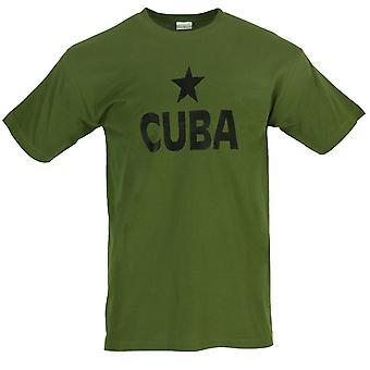 Nya tryckta T-Shirt Kuba Print svart stjärna