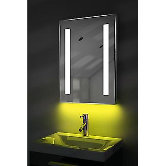 K205iw de rasoir LED salle de bain miroir avec désembuage Pad & capteur ambiant
