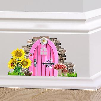 Full Colour Fairy Pixie Door Cute Skirting Board Sticke