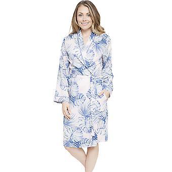 Cyberjammies 4105 kvinnors Isla rosa blad Print morgonrock Loungewear bad morgonrock Kimono