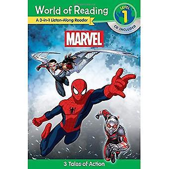 Mondo della lettura: Marvel Marvel 3-In-1 Ascolta-lungo Reader (il mondo di lettura livello 1): 3 racconti di avventura con...