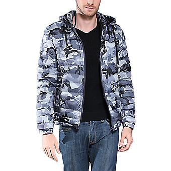 Cloudstyle Men's Down Jacket Camouflage Hooded Winter Coat