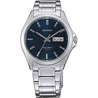 Oriënteren mannen Quartz analoge horloge met stalen band FUG0Q004D6