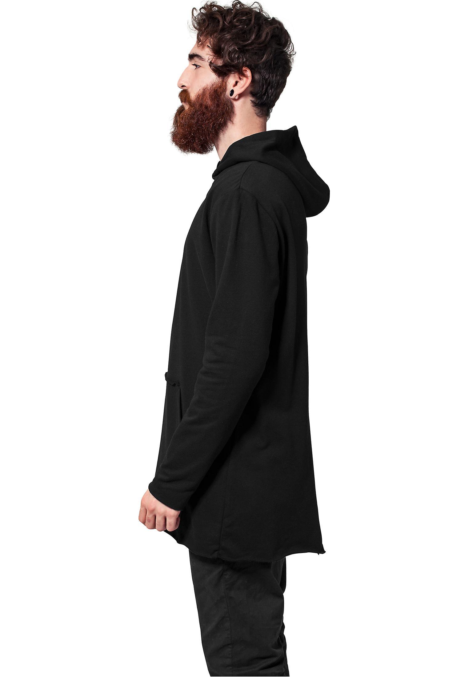 Urban classics mäns Zip Hoodie lång formad tillbaka zippade