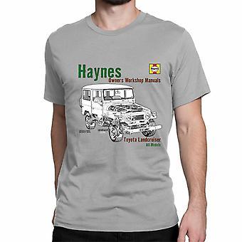 Officiële Haynes handmatige T-shirt Unisex TOYOTA Landcruiser All modellen, eigenaren werkplaats handboeken