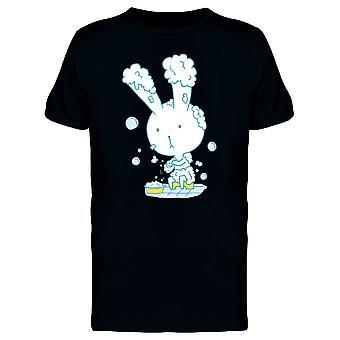 Kaninchen unter der Dusche, Doodle T-Shirt Herren-Bild von Shutterstock