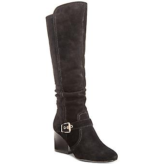 Lucca Lane Womens Paris Fabric Almond Toe Knee High Fashion Boots