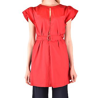 Twin-set Ezbc060196 Women's Red Cotton Blouse