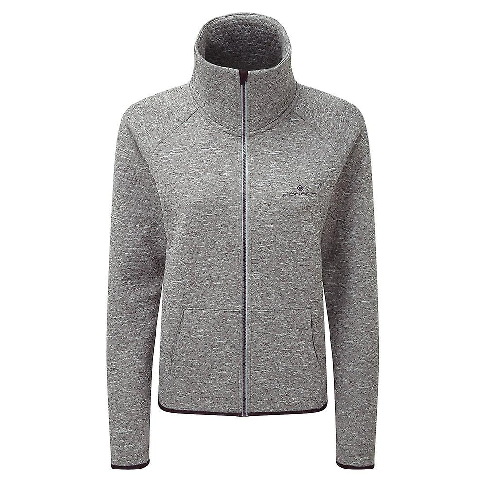 Ronhill Momentum Honeycomb Womens Thermal & Breathable Running Jacket Grey/aubergine
