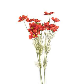 Hill Interiors Artificial Faux Orange Cosmos Spray