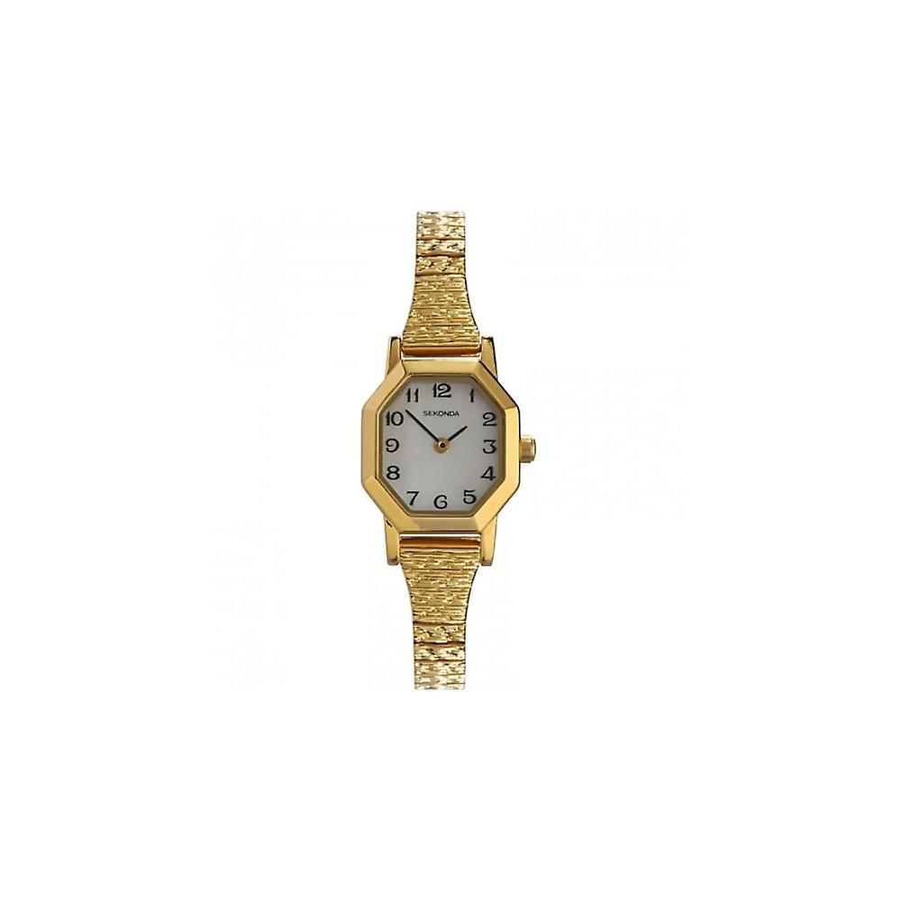 Sekonda Ladies Mother Of Pearl Dial Gold Expander Bracelet Watch