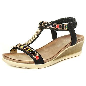 Cipriata Brizia Jewelled Womens Halter Back Wedge Sandals  AND COLOURS