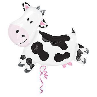Amscan Supershape Cow Shaped Foil Party Balloon