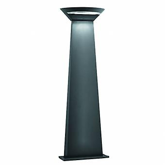 LED utomhus aluminium pollare ljusgrå Ip44