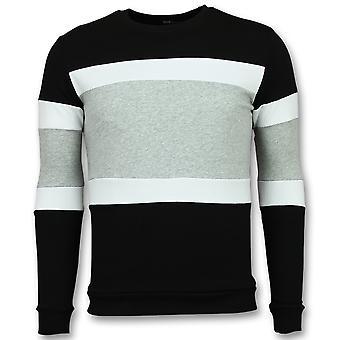 Striped Sweater Man - Online Stripe Sweaters - Grey