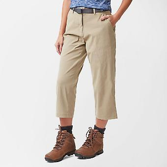 New Brasher Women's Stretch Crop Trouser Beige