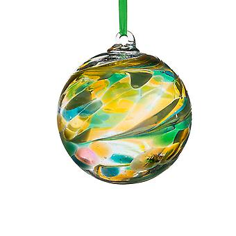Sienna Glass 10cm Birthstone Ball, August Peridot