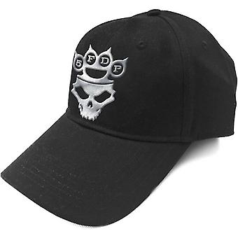 Five Finger Death Punch Baseball Cap Band Logo Silver Official Black Strapback