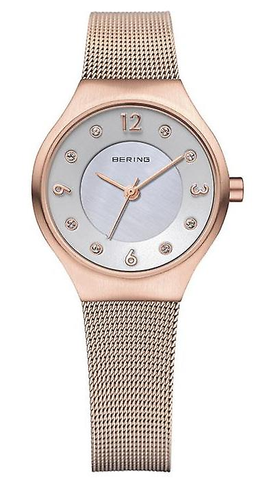 Bering Classic Rose Gold Rose Gold Milanese Strap Ladies Watch 14427-366 27mm