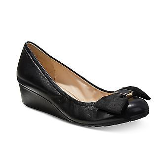 Cole Haan Womens Tali Leather Round Toe Wedge Pumps