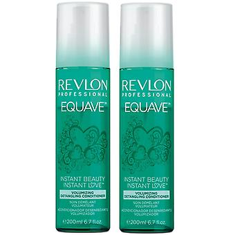 Revlon Equave Volumizing Detangling Conditioner 200ml x2