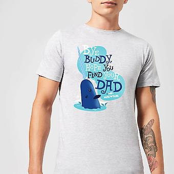 Elf Bye Buddy Men-apos;s Christmas T-Shirt - Gris