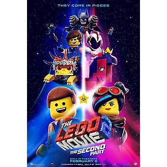 The Lego Movie 2 : The Second Part Original Movie Poster - Double Sided Advance Style