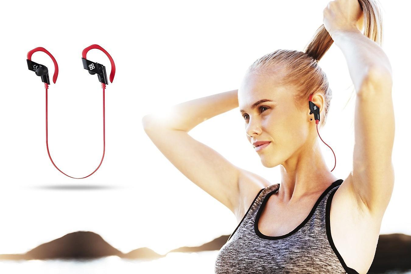 DUTCH ORIGINALS Bluetooth Headphones In Ear Wireless, In ear Headphone Sport with Microphone and Handle, Earphones wireless for Phone Iphone Samsung, Black