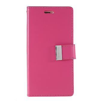 Mercury GOOSPERY Rich Diary for iPhone 11 Pro Max-Rose