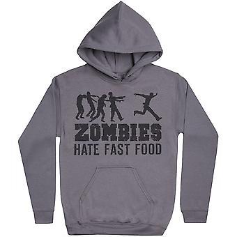 Zombies Hate Fast Food - Mens Hoodie