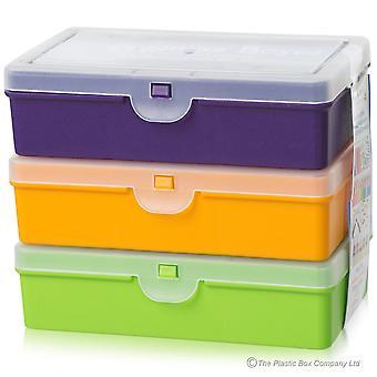 Wham opslag 14,5 cm verdeeld organisator box set van 3 geassorteerde
