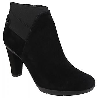 GEOX Inspiration Ladies Suede Ankle Boots Black
