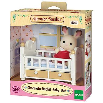 Familia Sylvanian-ciocolata Rabbit Baby set de jucărie