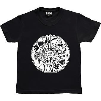 A- z di storia naturale Black Kids' T-Shirt