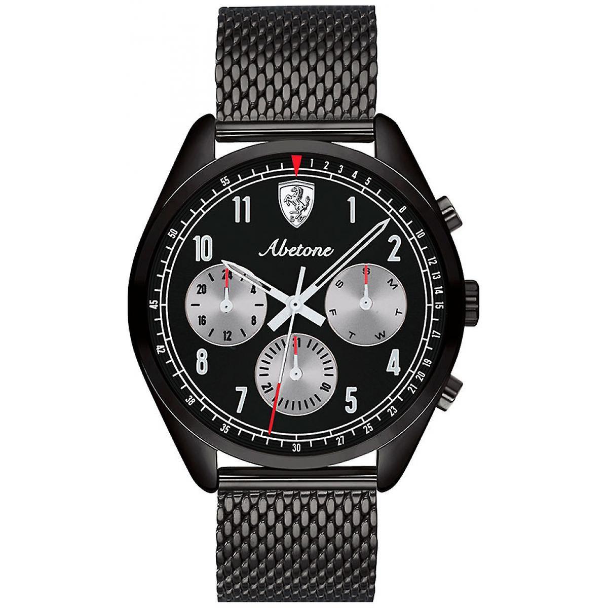 Montre Ferrari 830573 - Montre Multifonctions Acier Noir Homme