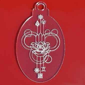 6 PK Lotus Blume Oval klar Acryl Weihnachtsdekorationen
