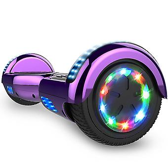 Right Choice Hoverboard Scooter eléctrico autoequilibrado - incorporado en los altavoces Bluetooth - LED rueda-cromo púrpura