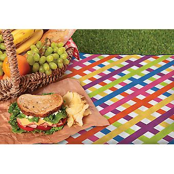 Country Club Picnic Blanket with Bag, Multi Check
