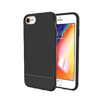 Per iPhone 8,7,6 & 6S custodia, Black Snap Armor Shock Proof Light Slim Phone Cover
