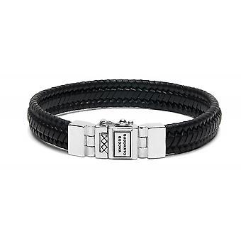 Buddha To Buddha 181BL F Edwin Small Leather Black Bracelet