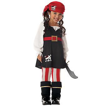 Precious Lil Pirate Buccaneer Swashbuckler Book Week Toddler Girls Costume