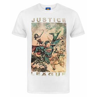 Justice League Characters Action Men's T-Shirt