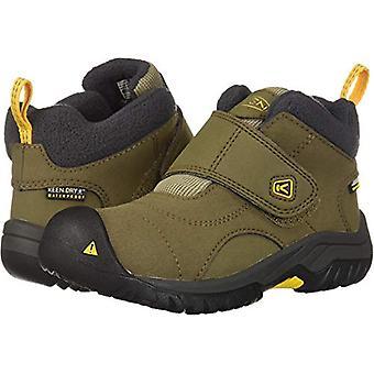 KEEN Unisex Kootenay II WP Hiking Boot, Canteen/Old Gold, 8 M US Little Kid