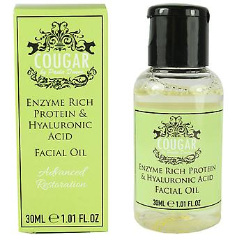 Cougar Enzyme Rich Protein Facial Oil with Hyaluronic Acid